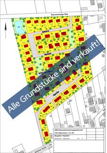"""Aufteilungsplan Baugebiet """"Alpeblick"""""""